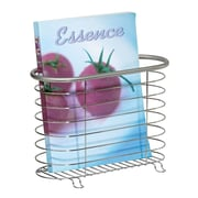 Forma Newspaper and Magazine Rack for Bathroom, Office, Den - Brushed Stainless (27760)