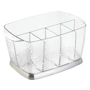 Rain Silverware, Flatware Caddy Organizer for Kitchen Countertop Storage, Dining Table - Clear (38650)