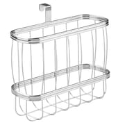 York Lyra Newspaper and Magazine Rack for Bathroom Storage, Over the Tank - Chrome (62370)