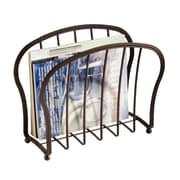York Lyra Newspaper and Magazine Rack for Bathroom, Office, Den -  Bronze (62971)