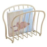 York Lyra Newspaper and Magazine Rack for Bathroom, Office, Den - Pearl Champagne (62973)