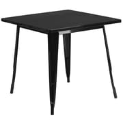 Flash Furniture 31.5'' Square Black Metal Indoor-Outdoor Table (ET-CT002-1-BK-GG)