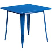 Flash Furniture 31.5'' Square Blue Metal Indoor-Outdoor Table (ET-CT002-1-BL-GG)