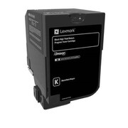 Lexmark CS720, CS725 Black High Yield Return Program Toner Cartridge