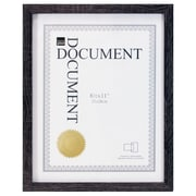 "Kiera Grace PH44108-9 Linear Document Frame, Holds 8.5x11"", Driftwood Black"