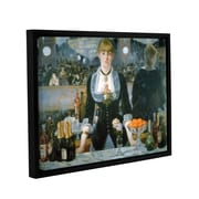 ArtWall A Bar At The Folies-Bergere by Edouard Manet Framed Painting Print on Wrapped Canvas