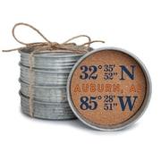 Occasionally Made Coordinates Mason Jar Lid Coaster Stack; Auburn, AL