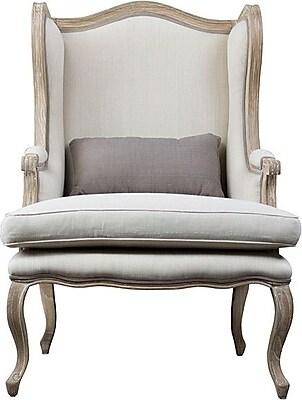 Wholesale Interiors Baxton Studio Auvergne Wingback Arm Chair