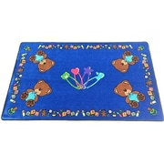 Kids World Baby Bears Hand-Tufted Blue Area Rug; 5' x 8'