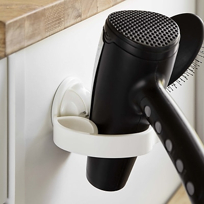 FECA Damage Free Wall Mounted Compact Hair Dryer and Brush Holder WYF078279217675