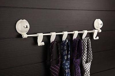 FECA Wall Mount Coat Rack with 6 Adjustable Flat Hooks for Towels, Keys, Hat WYF078279217690