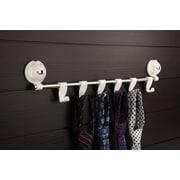 FECA Wall Mount Coat Rack with 6 Adjustable Flat Hooks for Towels, Keys, Hat