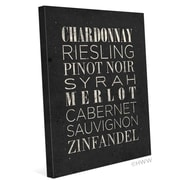 Click Wall Art List Of Wine Textual Art on Wrapped Canvas in Black; 24'' H x 20'' W x 1.5'' D