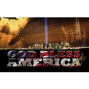 Team Sports America God Bless America Sublimated Mat