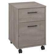 Bush Furniture Key West 2 Drawer Mobile Pedestal, Washed Gray (KWF116WG-03)