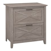 Bush Furniture Key West Lateral File, Washed Gray (KWF130WG-03)
