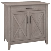 Bush Furniture Key West Laptop Storage Desk Credenza, Washed Gray (KWS132WG-03)
