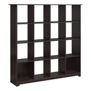 Bush Furniture Cabot Collection 16 Cube Bookcase, Espresso Oak (WC31803-03)
