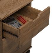Bush Furniture Mission Creek 2 Drawer Mobile Pedestal, Rustic Brown (MCF116RB-03)