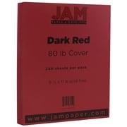 JAM Paper® Matte Cardstock, 8.5 x 11, 80lb Dark Red, 250/ream (46395837B)
