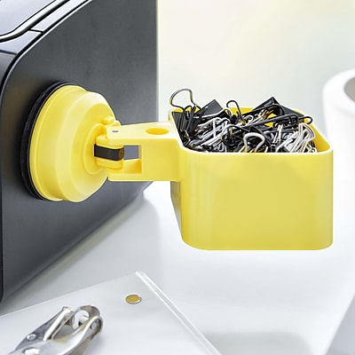 FECA Suction Cup Paper Clip Holder; Yellow WYF078279218072