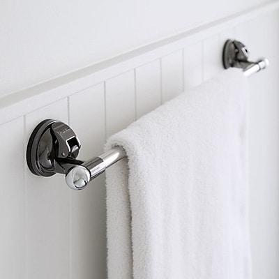 FECA 24.25'' Wall Mounted Stainless Steel Bathroom Towel Bar; Black Nickel WYF078279218080