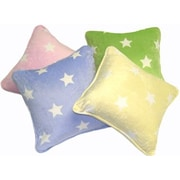Satin Mill Polarain Gom Star Throw Pillow; Yellow
