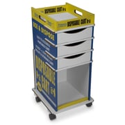 TrippNT Easily Identifiable Disposable Cart with 3 Drawers