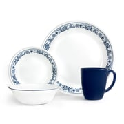 Corelle Livingware Old Town Blue 16 Piece Dinnerware Set