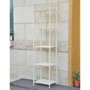 International Caravan St. Lucia 5-Tier Iron Folding Indoor/Outdoor Bakers Rack