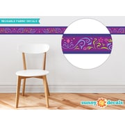 Sunny Decals Frozen Inspired Border Wall Decal (Set of 2); Purple