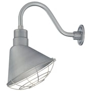 Millennium Lighting R Series 12'' Metal Empire Wall Sconce Shade; Galvanized