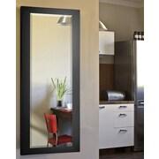 Rayne Mirrors Jovie Jane Black Satin Full Length Beveled Body Mirror; 64'' H x 26'' W x 0.75'' D