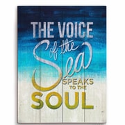 Click Wall Art The Voice of the Sea Speaks to the Soul Textual Art Plaque; 20'' H x 16'' W x 1'' D