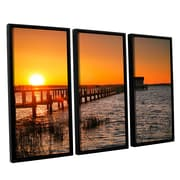 ArtWall House At the End of the Pier by Steve Ainsworth 3 PieceFramed Photographic Print Set