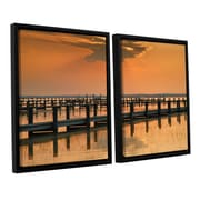 ArtWall Silver And Gold Steve Ainsworth 2 Piece Framed Photographic Print on Canvas Set