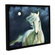 ArtWall Moon Silver by Marina Petro Framed Painting Print on Wrapped Canvas; 24'' H x 32'' W x 2'' D