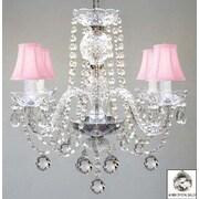Harrison Lane Swarovski 4-Light Crystal Chandelier; Pink
