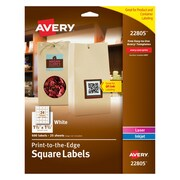 """Avery® 22805 White Laser/Inkjet Specialty Square Shaped Labels with TrueBlock, 1-1/2"""" 1-1/2"""" 600/Box"""