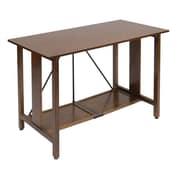 "Studio Designs™ 43.25"" Wood Madera Folding Desk, Walnut/Black (50250)"