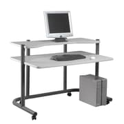 "Studio Designs™ 49.25"" Steel Computer Workstation, Pewter/Light Gray (18650)"