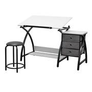 "Studio Designs™ 50"" Steel Comet Center with Stool, Black/White (13326)"