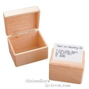 "Honey Can Do Recipe Card Box - Fits 3"" x 5"" Cards (2406)"