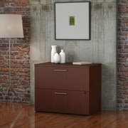 """Bush Business Furniture Emerge 36""""W 2 Drawer Lateral File - Installed, Harvest Cherry (300SFL236CSKFA)"""