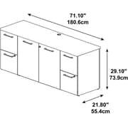 "Bush Business Furniture Emerge 72""W x 22""D Storage Credenza - Installed, Harvest Cherry (300SCST72CSKFA)"