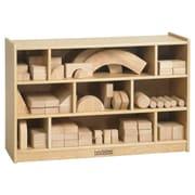 "ECR4Kids® Birch 36"" Medium Block Storage Cart, Nat"