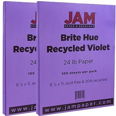 JAM PaperMD – Papier recyclé lisse de couleur vive, 8 1/2 x 11 po, violet, 200/paquet