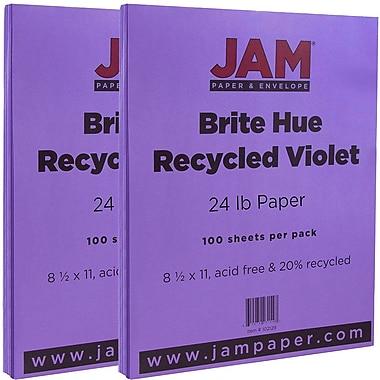 JAM PaperMD – Papier recyclé lisse de couleur vive, 8 1/2 x 11 po, jaune, 200/paquet