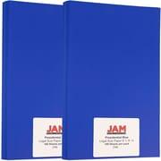 JAM Paper® Matte Legal Paper, 8.5 x 14, 28lb Presidential Blue, 200/Pack (16728523g)