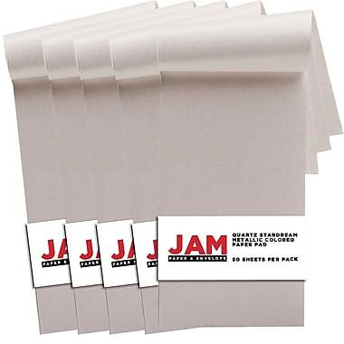 JAM PaperMD – Bloc papier Stardream métallique, 3 x 6 po, quartz métallique, paq./4